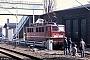"""LEW 12154 - DR """"142 163-5"""" 02.04.1992 - Berlin-Pankow, BahnbetriebswerkIngmar Weidig"""